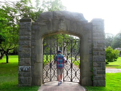 Gates to the formal garden.