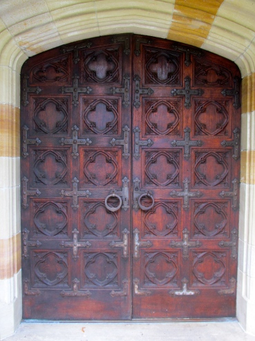 The main entrance doors are 400 to 500 years old.